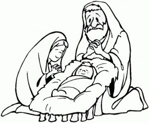 Baby jesus coloring page 001