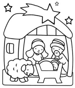 Baby jesus coloring pages nativity scene 001