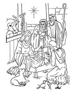 Baby jesus nativity coloring pages 001