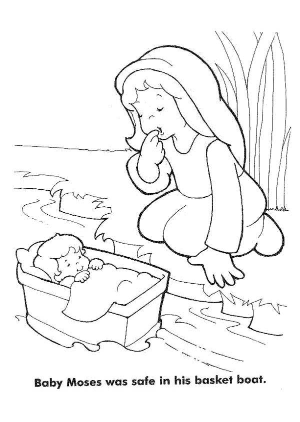 Baby Moses Bible Coloring Pages