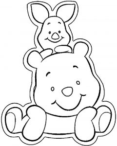 Baby pig pooh coloring page 2