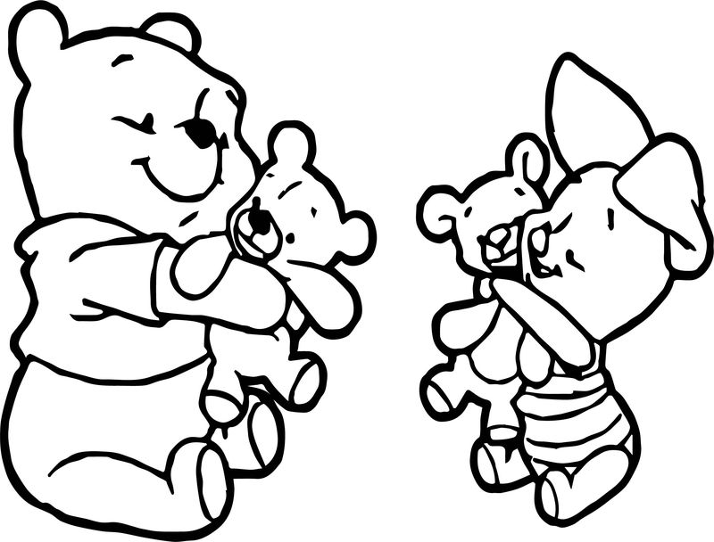 Baby Piglet Winnie The Pooh Coloring Page 09