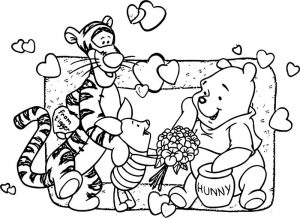 Baby piglet winnie the pooh from tigger hunny coloring page