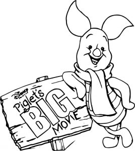 Baby piglet winnie the pooh the big movie coloring page