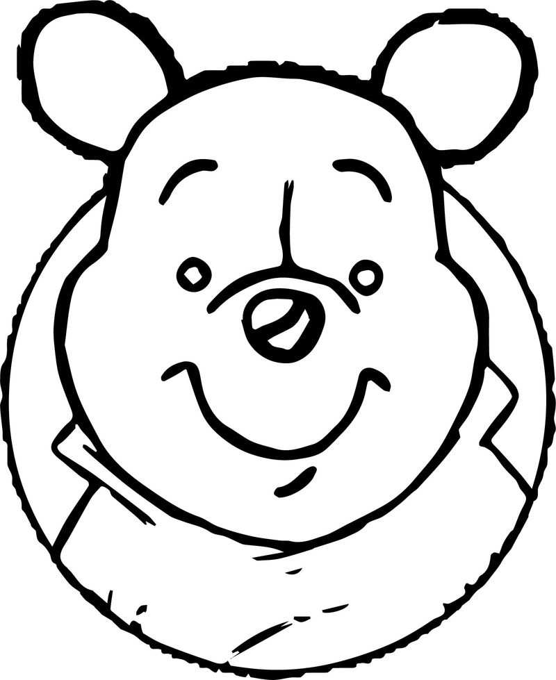 Baby Pooh Big Face Coloring Page