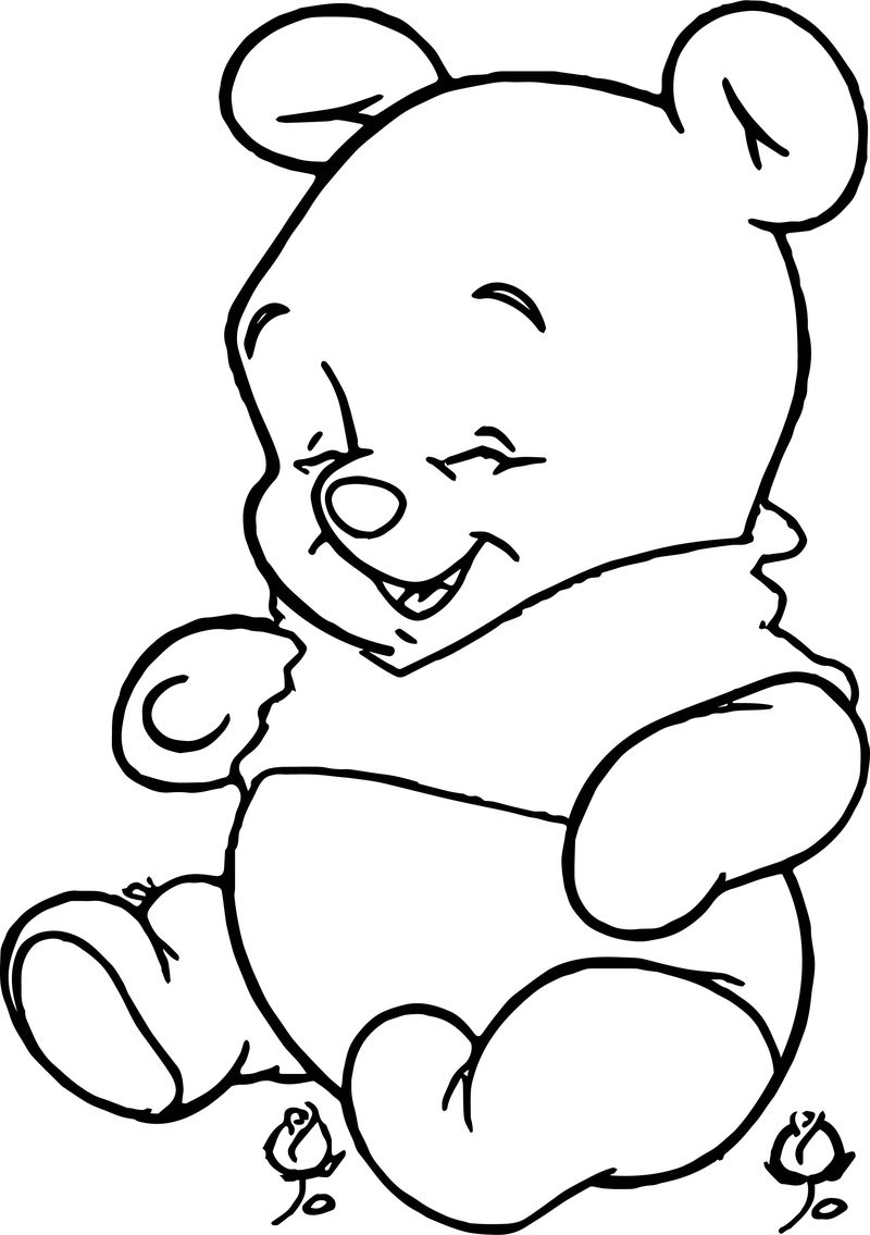 Baby Pooh Smile Coloring Page