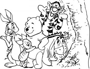 Baby winnie pooh and friends characters free coloring pages pictures