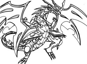 Bakugan red dragon coloring page