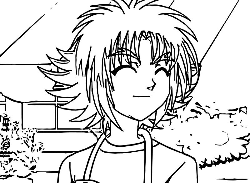 Bakugan smile manga coloring page