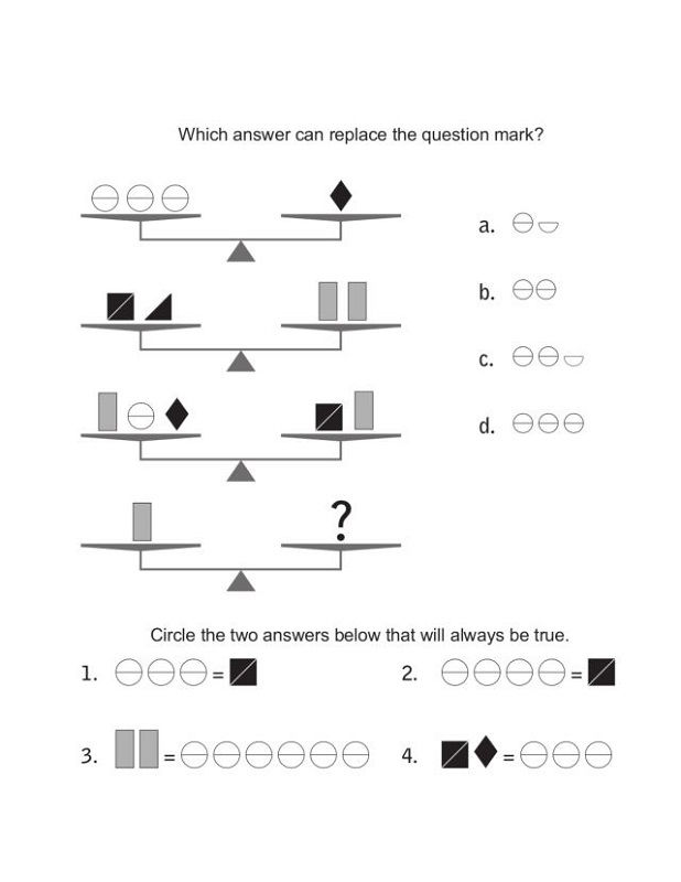 Balance Scale Worksheets 5th Grade