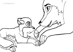 Balto and aniu wolf coloring page 001