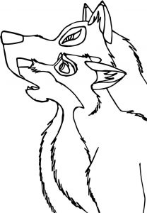 Balto and aniu wolf coloring page