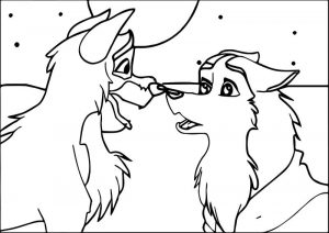 Balto and jenna wolf snow coloring page