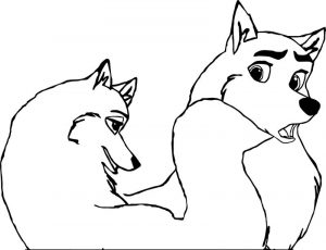 Balto base 15 wolf coloring page