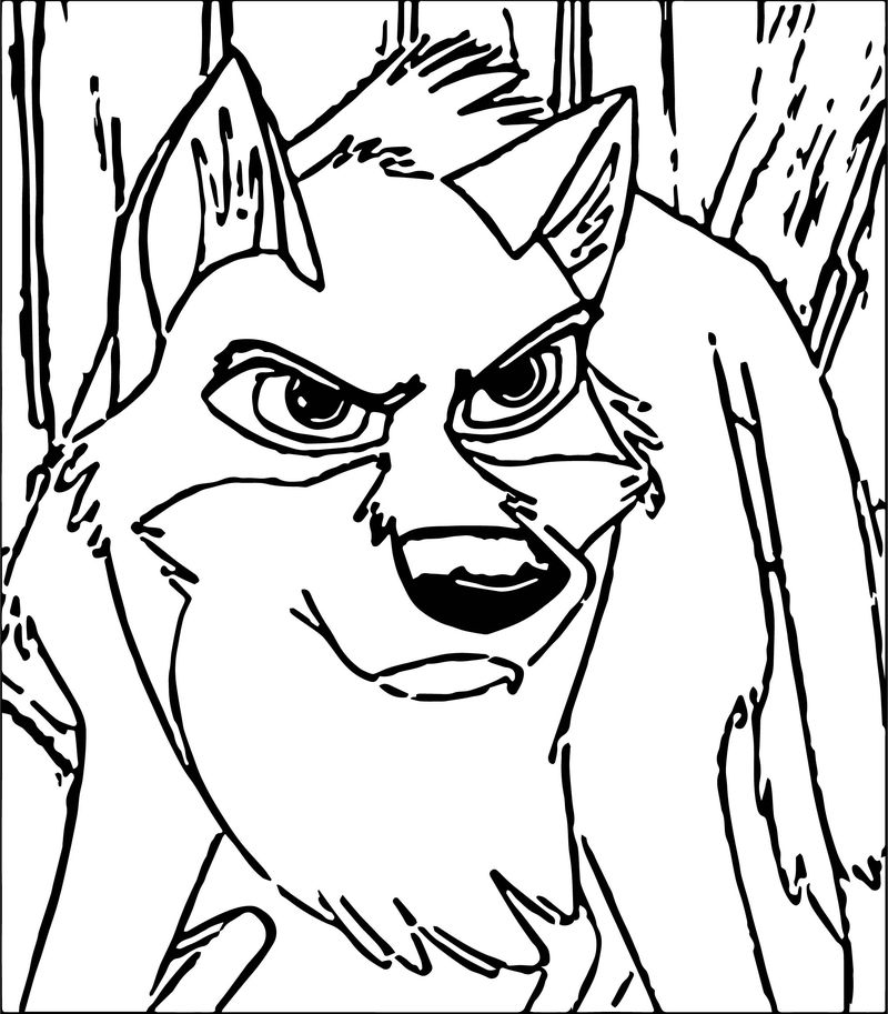 Balto Char Wolf Coloring Page
