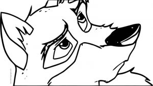 Balto lb wolf coloring page