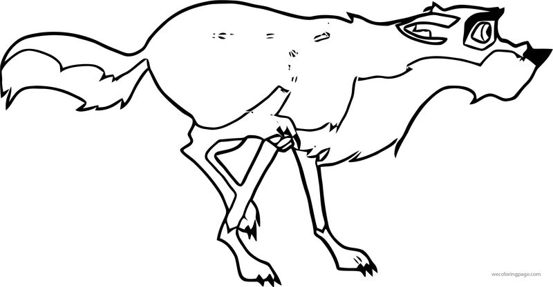 Balto Running Colored Super Wolf Queen Wolf Coloring Page