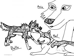Balto s family noil aniu wolf coloring page