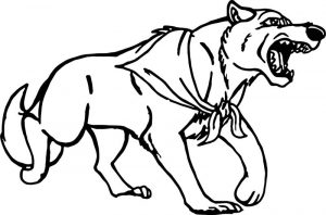 Balto wolf angry coloring page