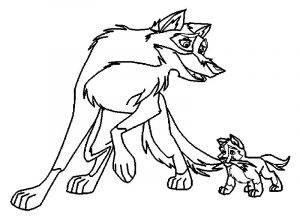 Balto wolf coloring page 073