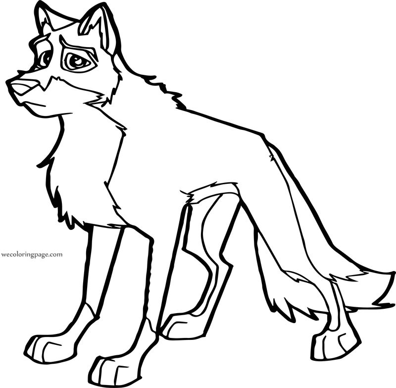 Balto Wolf Please Coloring Page