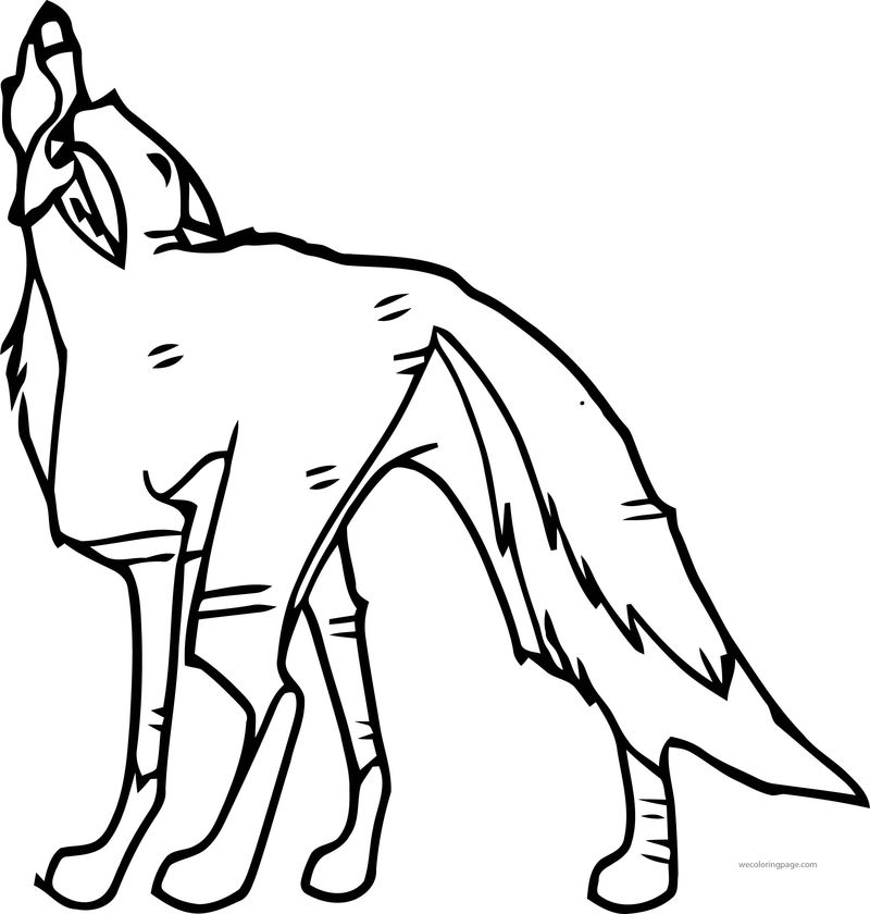 Baltos Heroic Wolf Howl Wolf Coloring Page
