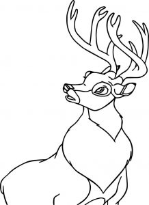 Bambi and the great prince of the forest look up coloring page