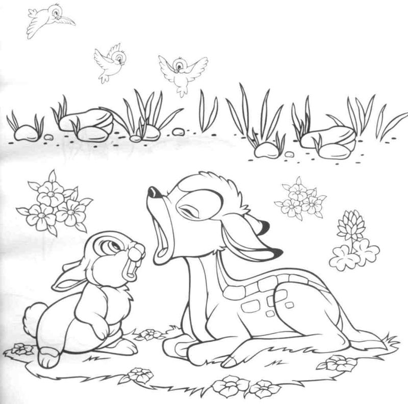 Bambi Coloring Pages Pictures