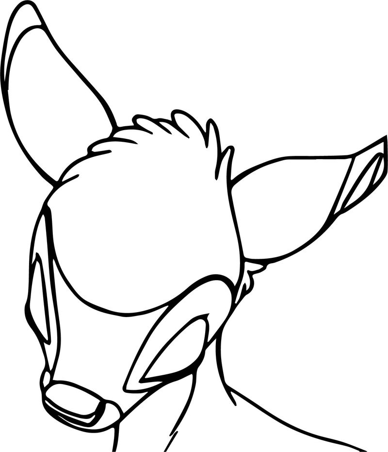 Bambi Head Sleep Coloring Pages