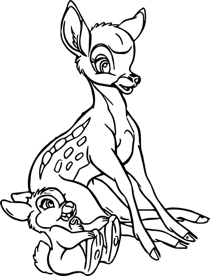 Bambi Thumper Coloring Pages