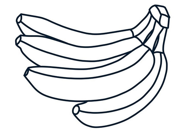 Banana Fruit Coloring Picture