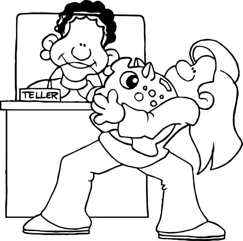 Banking Activity Coloring Page