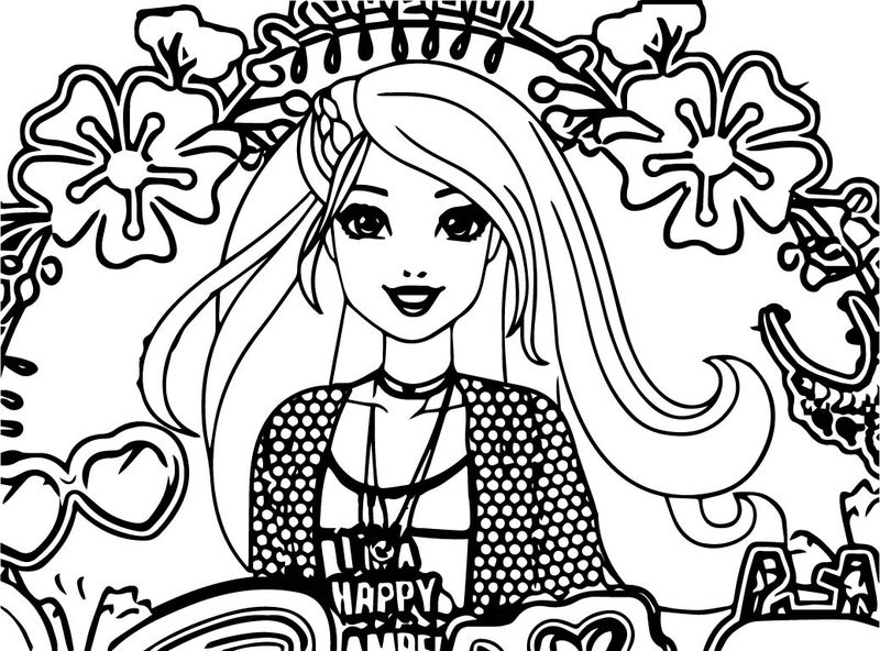 Barbie Goes Glamping Cartoon Coloring Page
