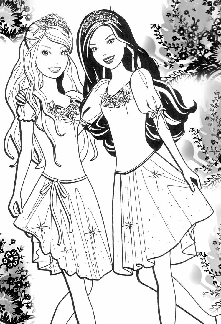 Barbie Teen Princess Coloring Pages
