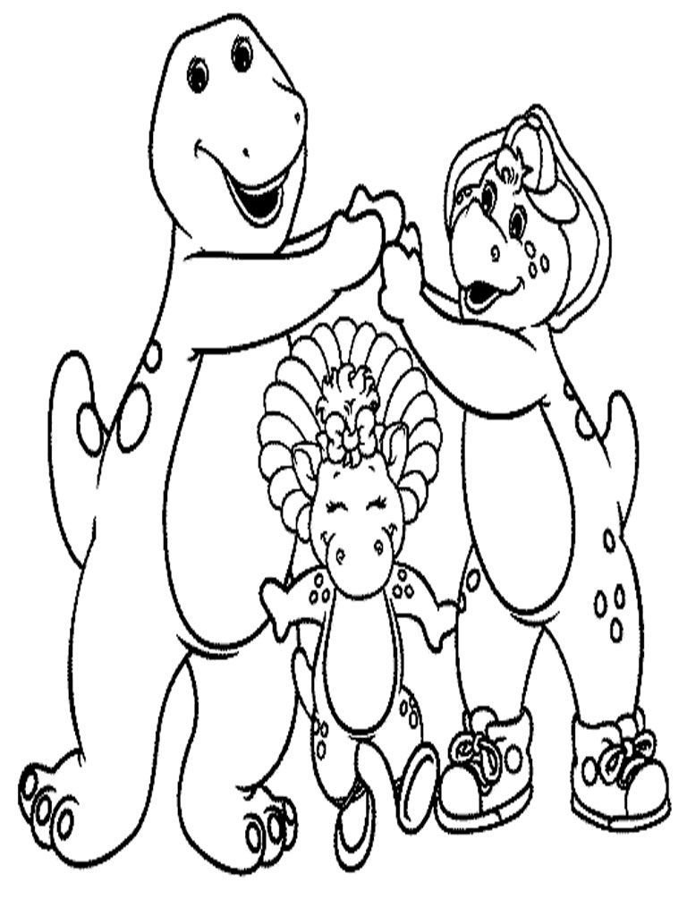 Barney Coloring Pages Kids