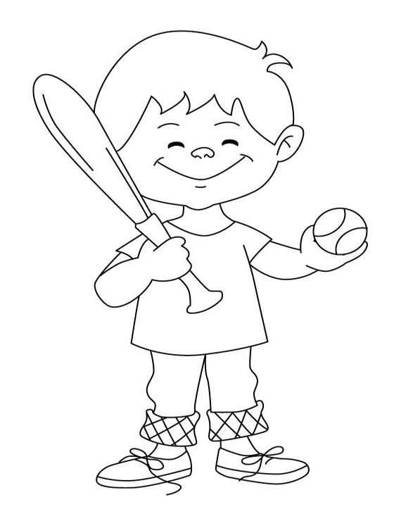 Baseball Coloring Page For Kids 001