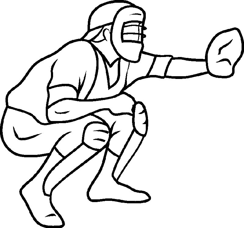 Baseball Coloring Pages 001