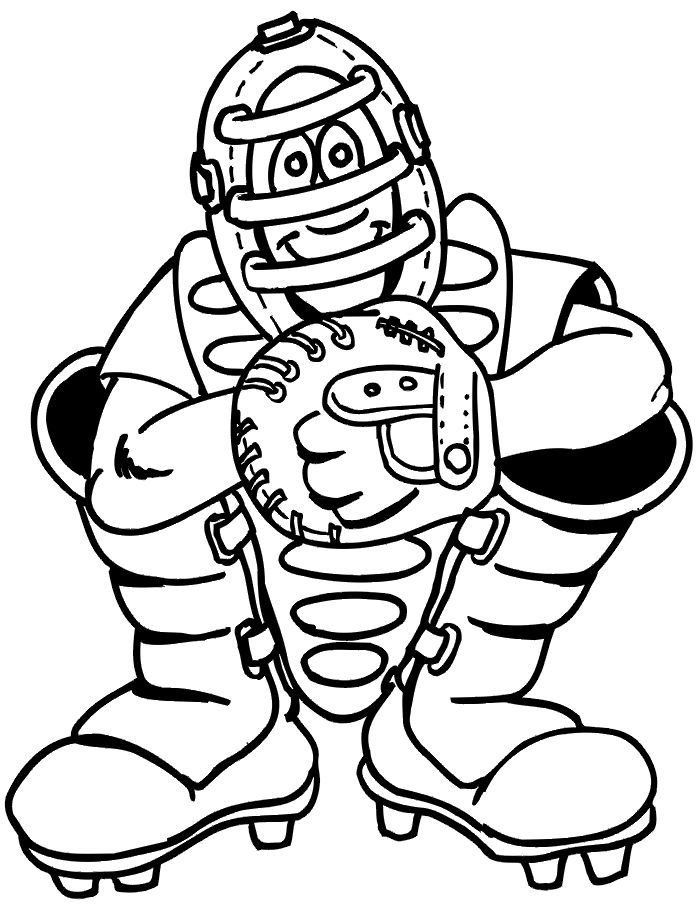 Baseball Coloring Pages Umpire 001