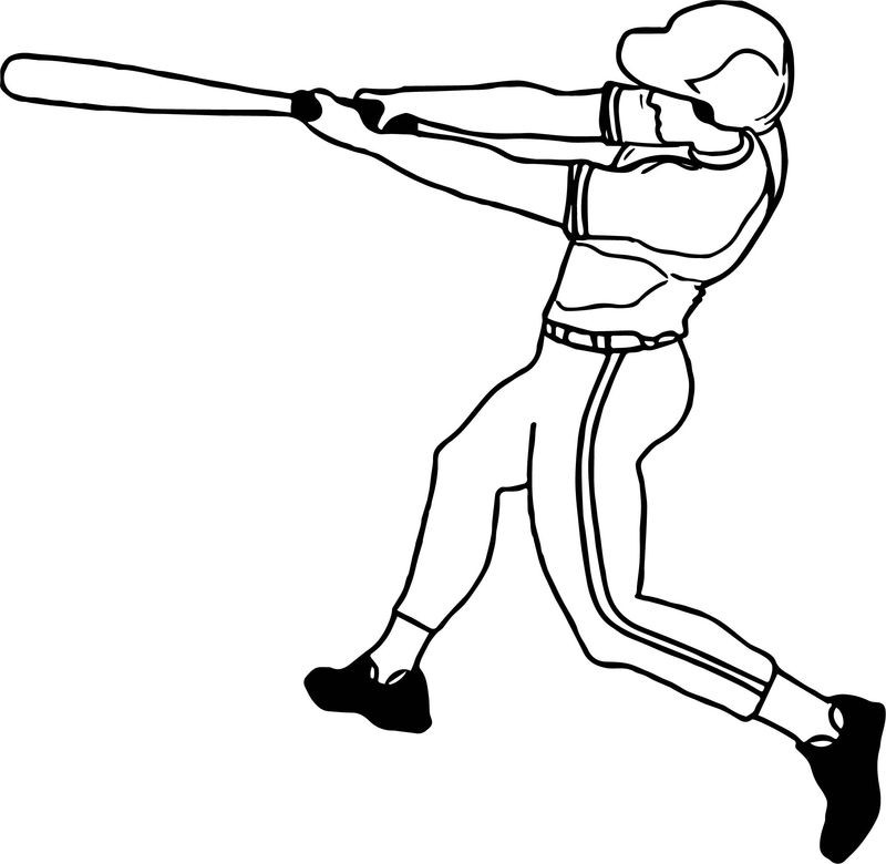 Baseball Kick Ball Playing Baseball Coloring Page