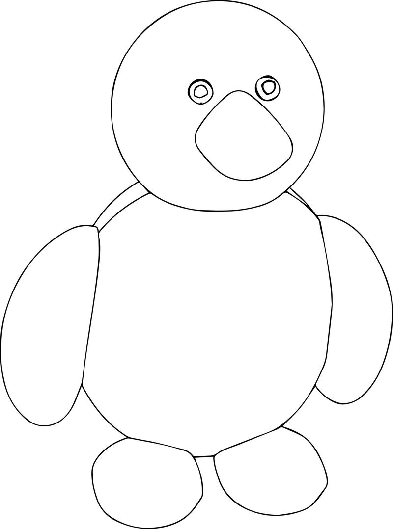 Basic Cartoon Coloring Page