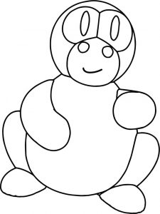 Basic dragon coloring page