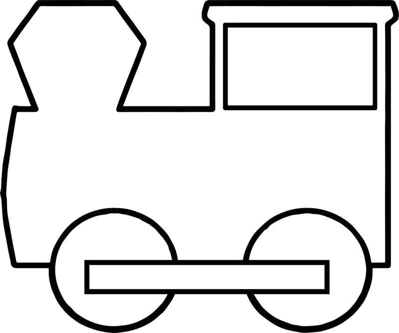 Basic Train Coloring Pages