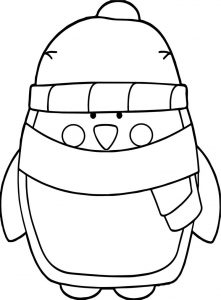 Basic winter penguin coloring page