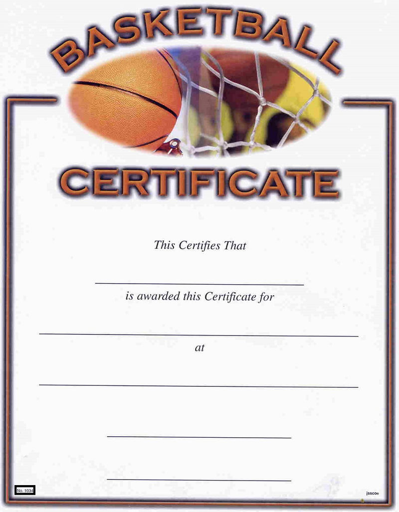Basketball Award Certificates3