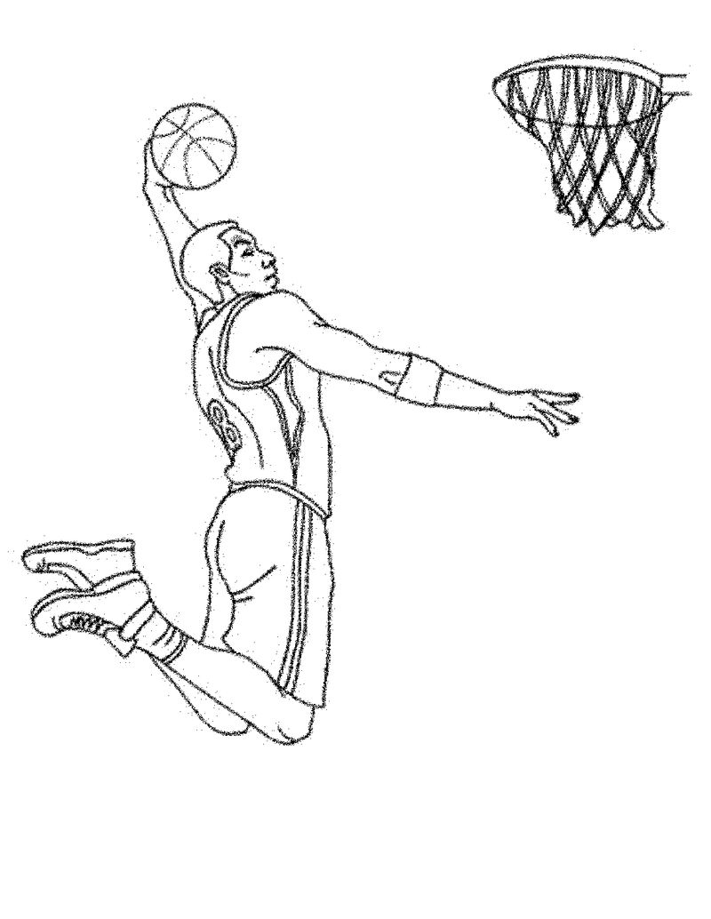 Basketball Color Pages Dunking