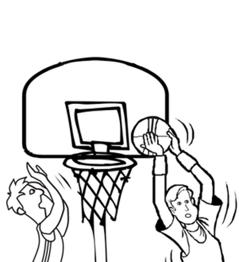 Basketball Color Pages For Kids