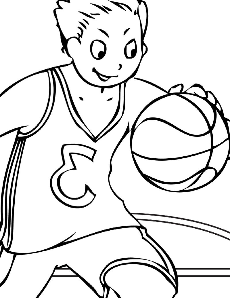 Basketball Color Pages Kids