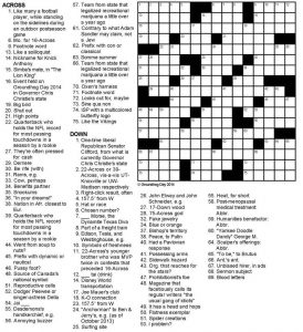 Basketball crossword puzzles adult