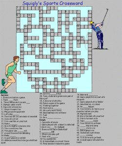 Basketball crossword puzzles sports