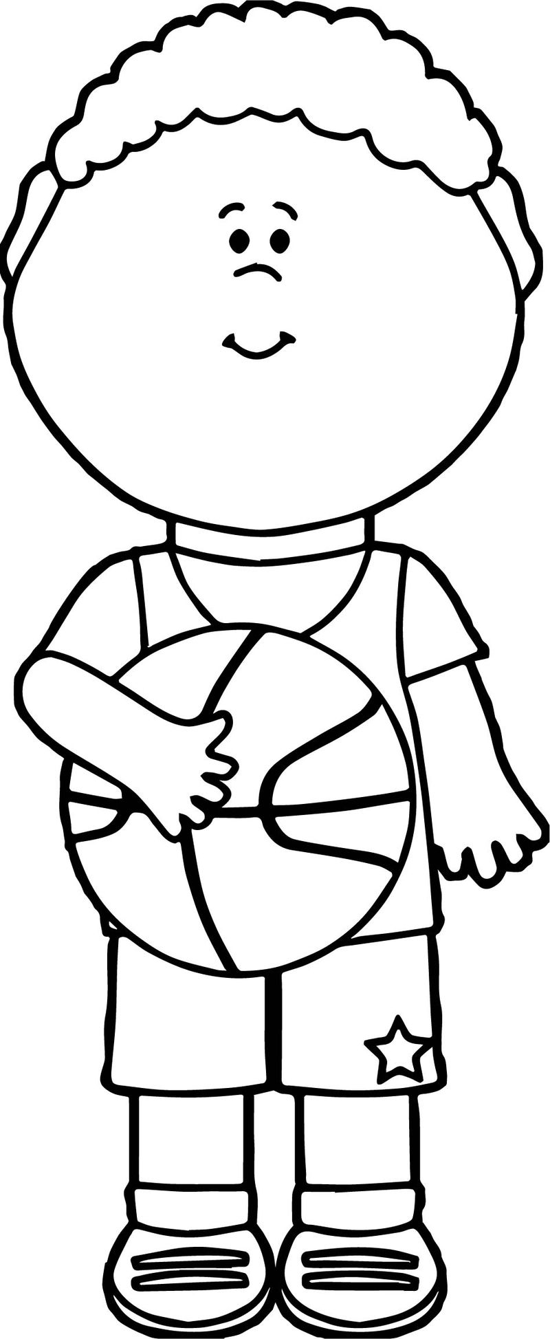 Basketball Player Playing Coloring Page